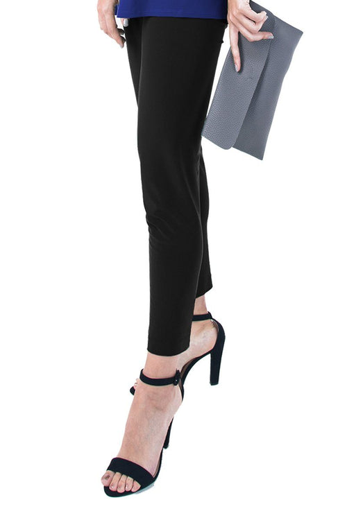 PLUS SIZE SLIM CROPPED PANTS black