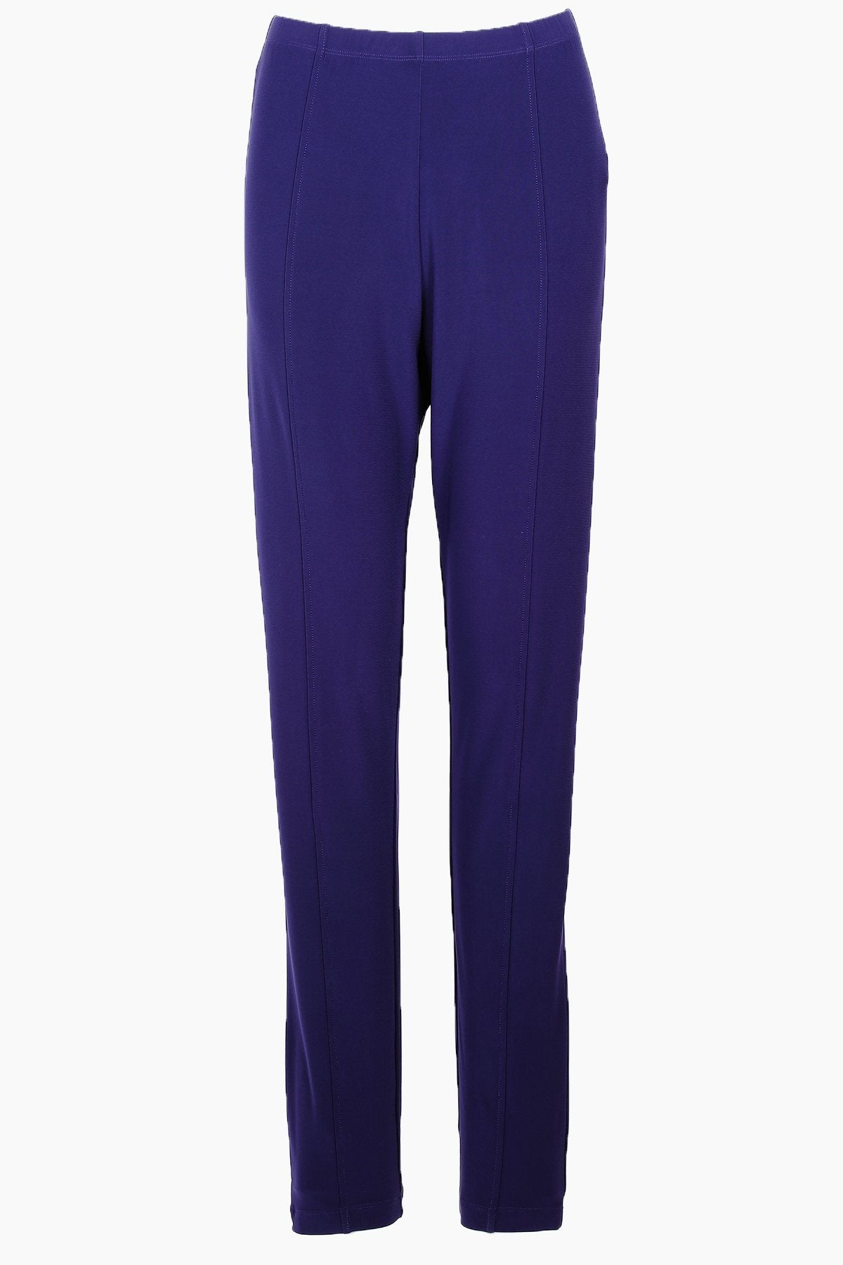 Women's Navy High Waisted Travel Pants with Front Seam Rosarini