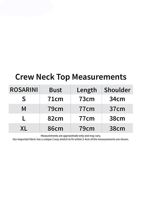 Crew Neck Top Measurement