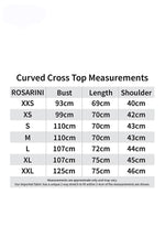 Curved Cross Top - Women's Clothing -ROSARINI