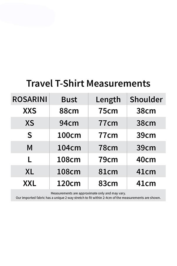 Travel T-Shirt Size
