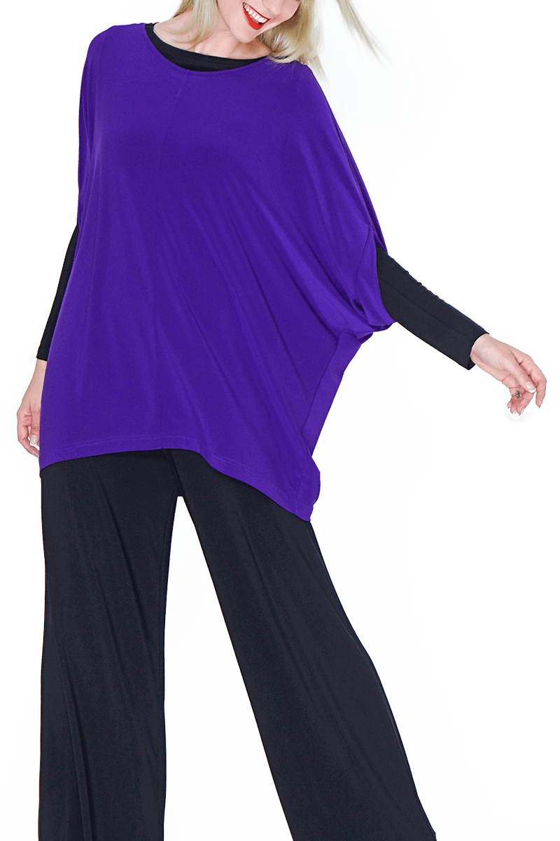 Crew Neck Top - Women's Clothing -ROSARINI