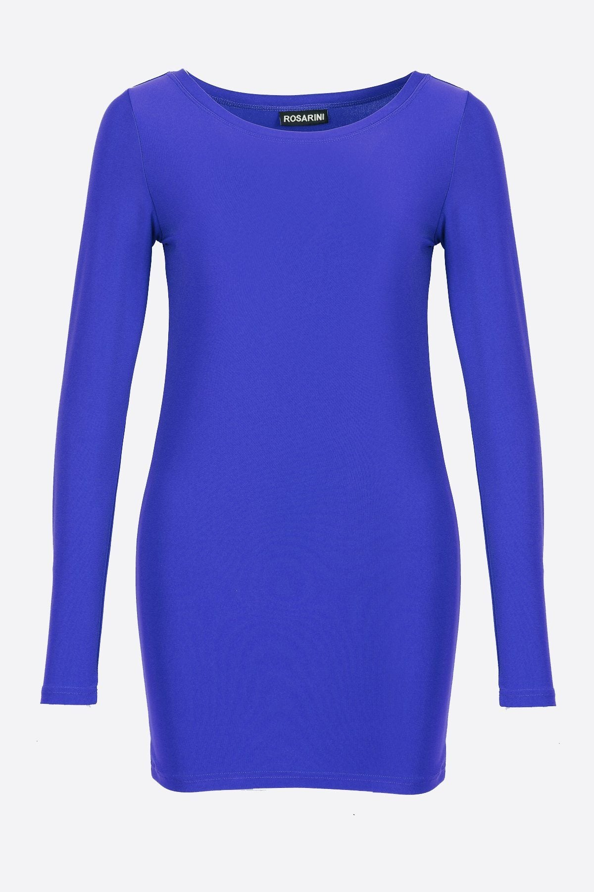 Women's Long Sleeve Crew Neck Top Blue Rosarini