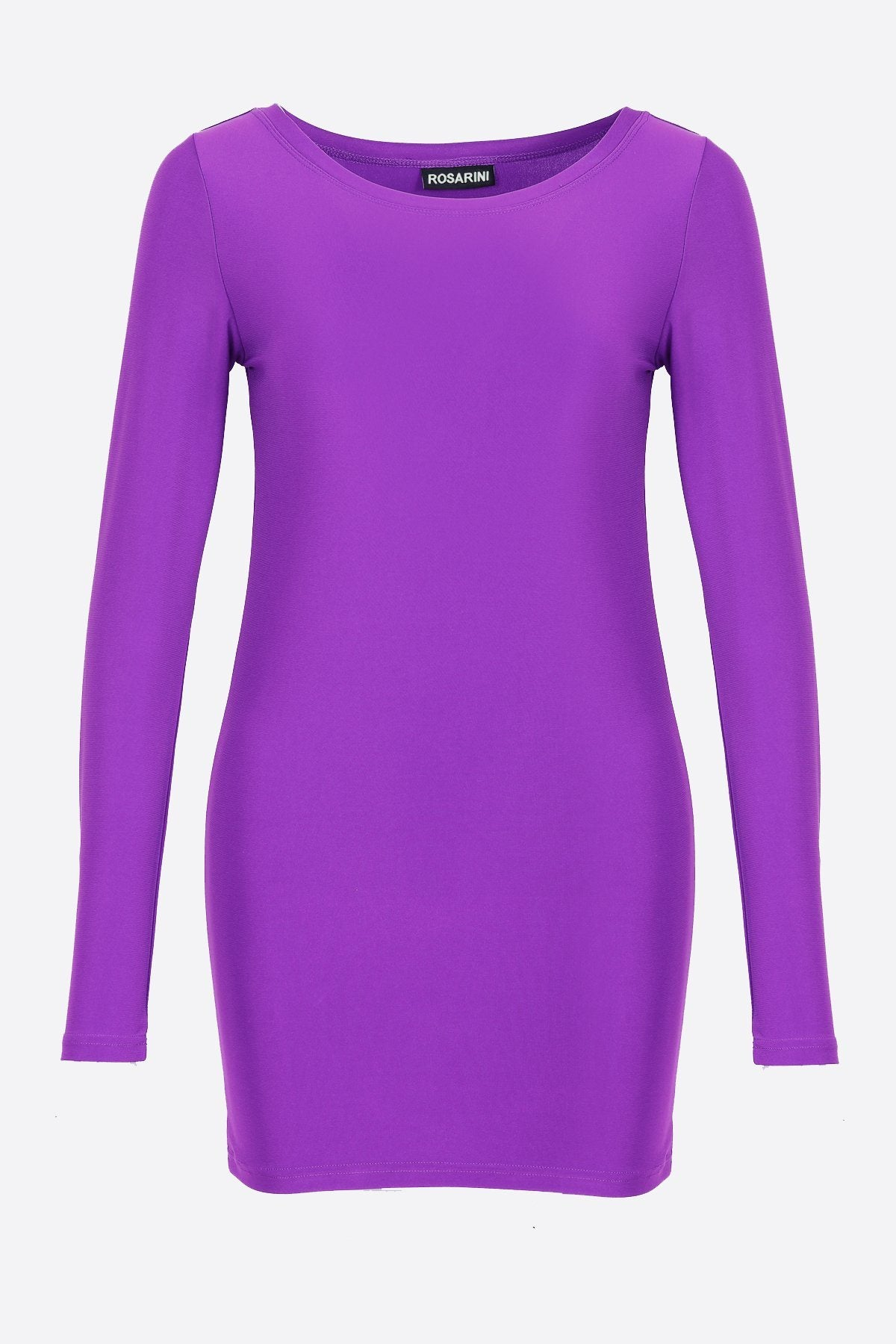 Women's Long Sleeve Crew Neck Top Bright Purple Rosarini