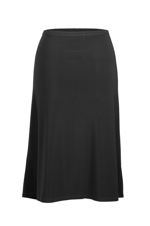 Women's Black A-Line Midi Skirt