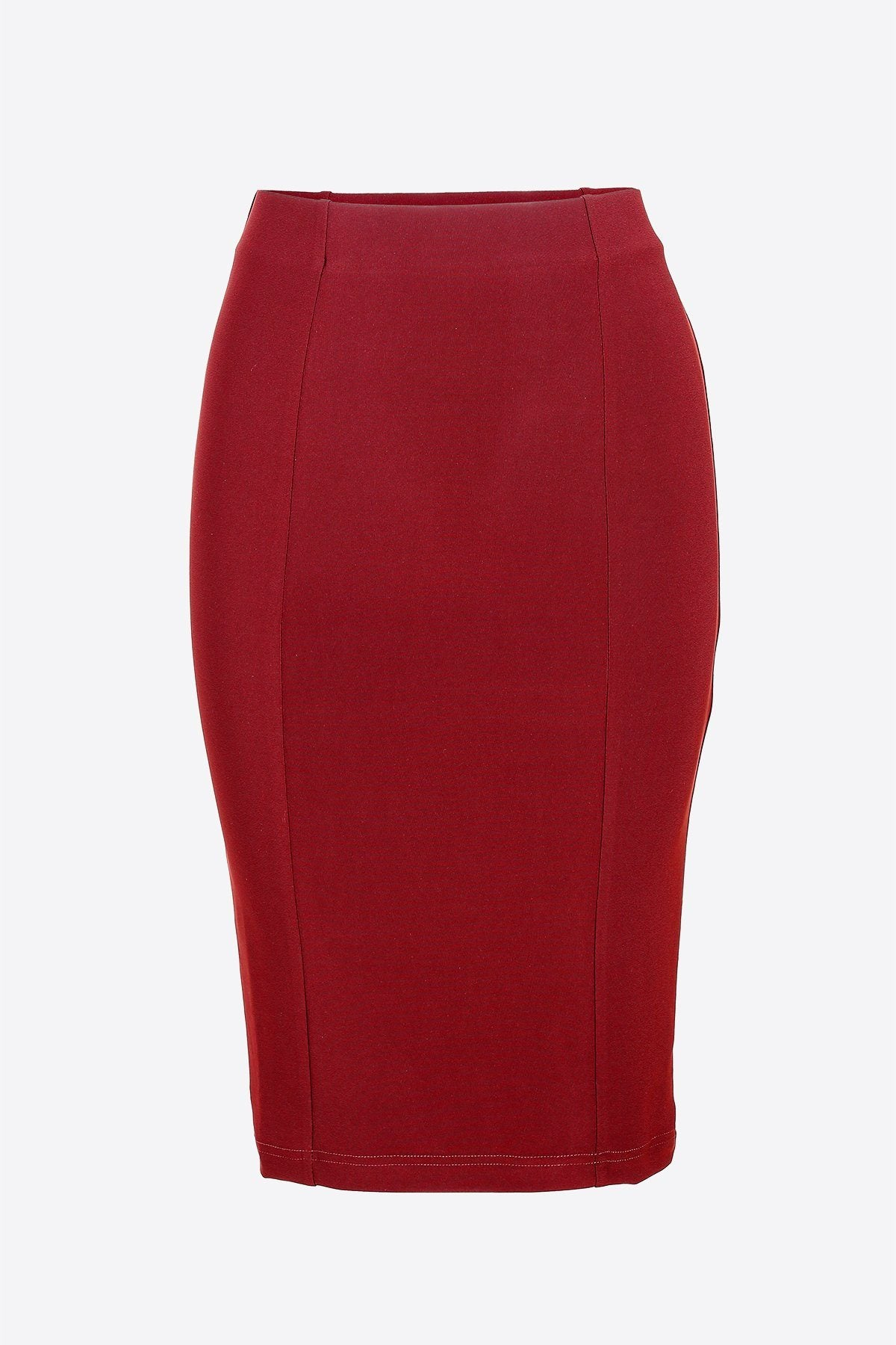 Pencil Skirt dark red