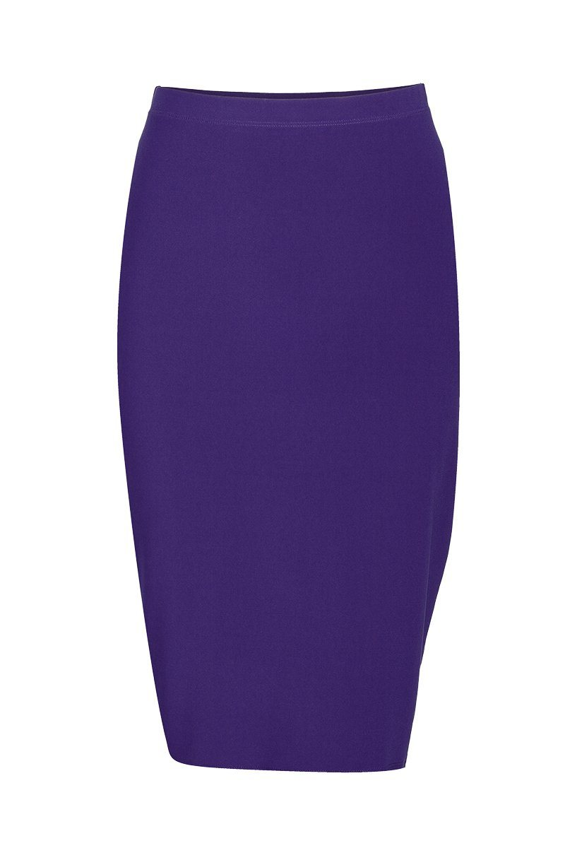Women's Purple Basic Skirt Rosarini