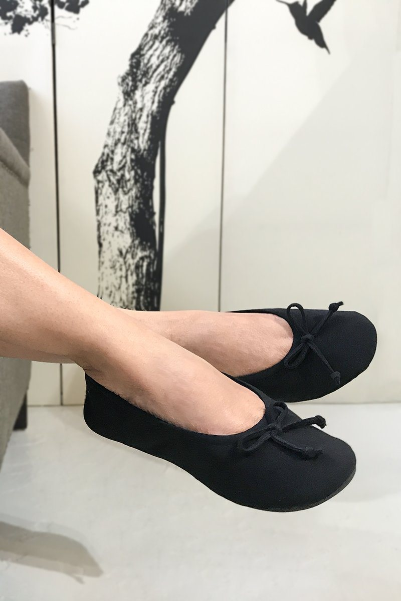 Ballerina Slippers - Black - Women's Clothing -ROSARINI