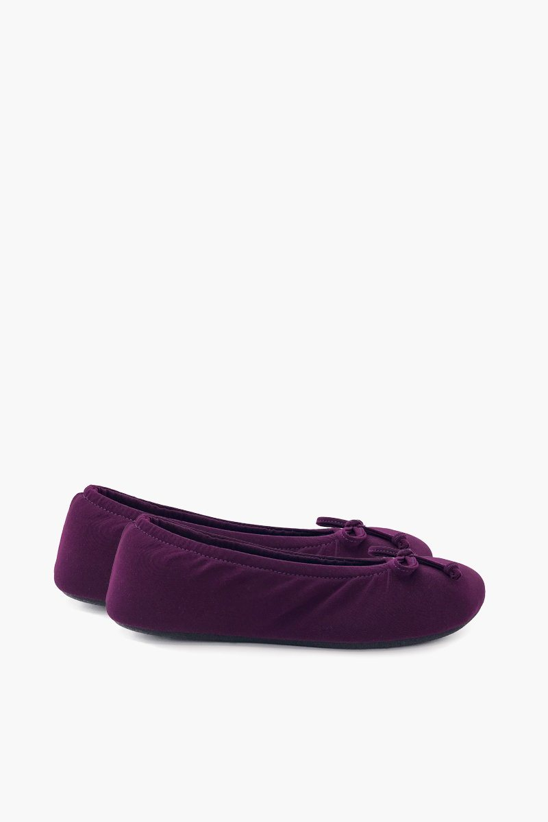 Women's Wine Ballerina Slippers