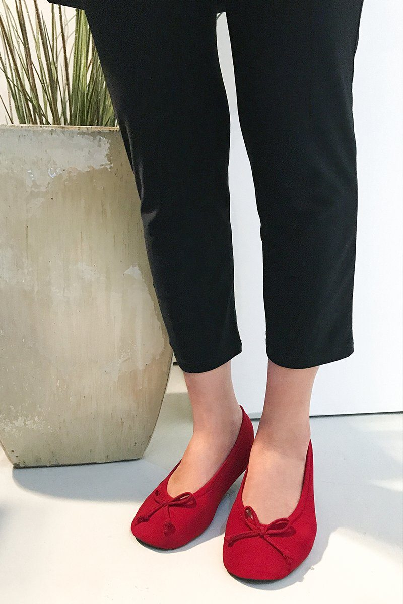 Red Ballerina Slipper Flats