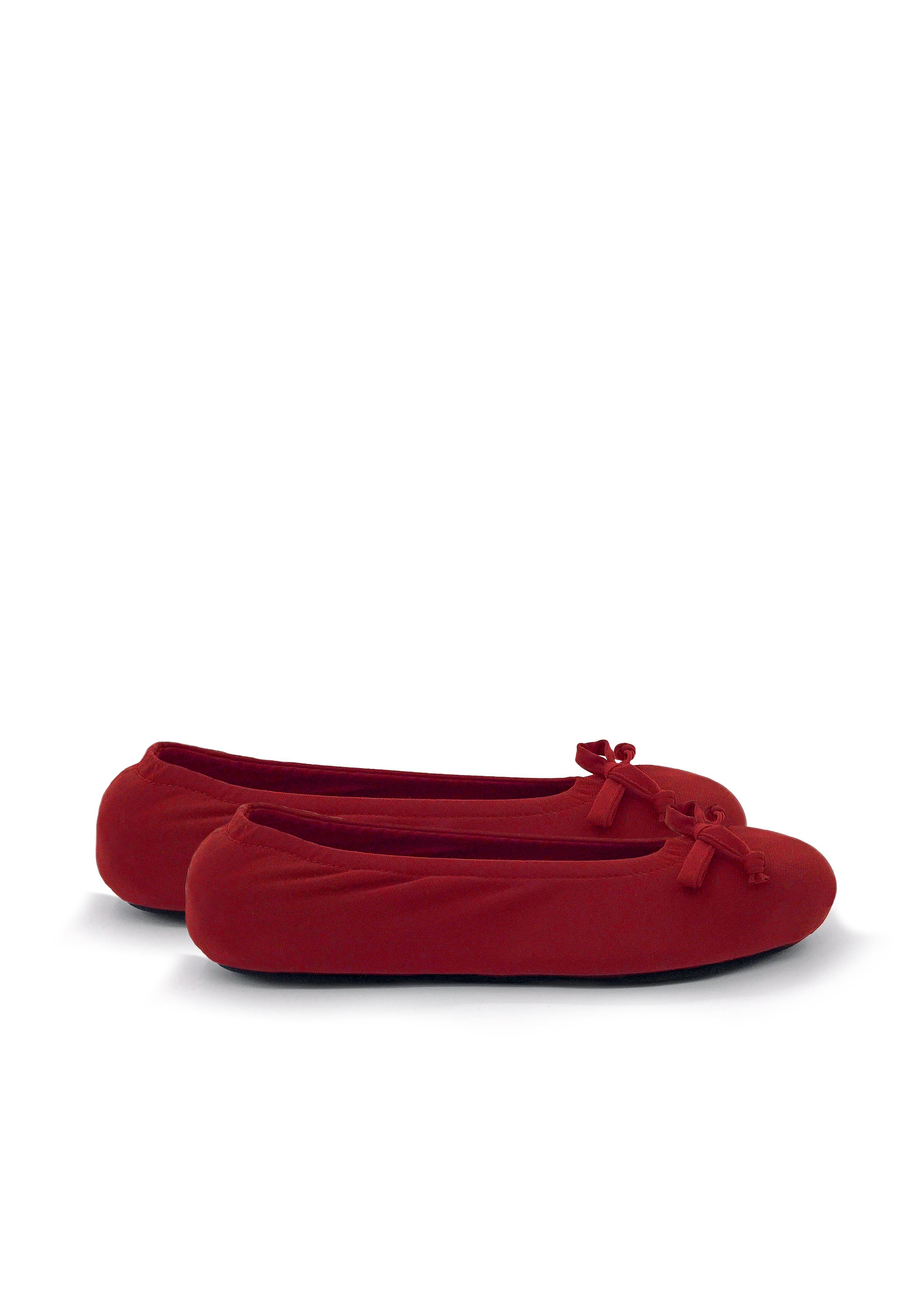 Ballerina Slippers - Red - Women's Clothing -ROSARINI