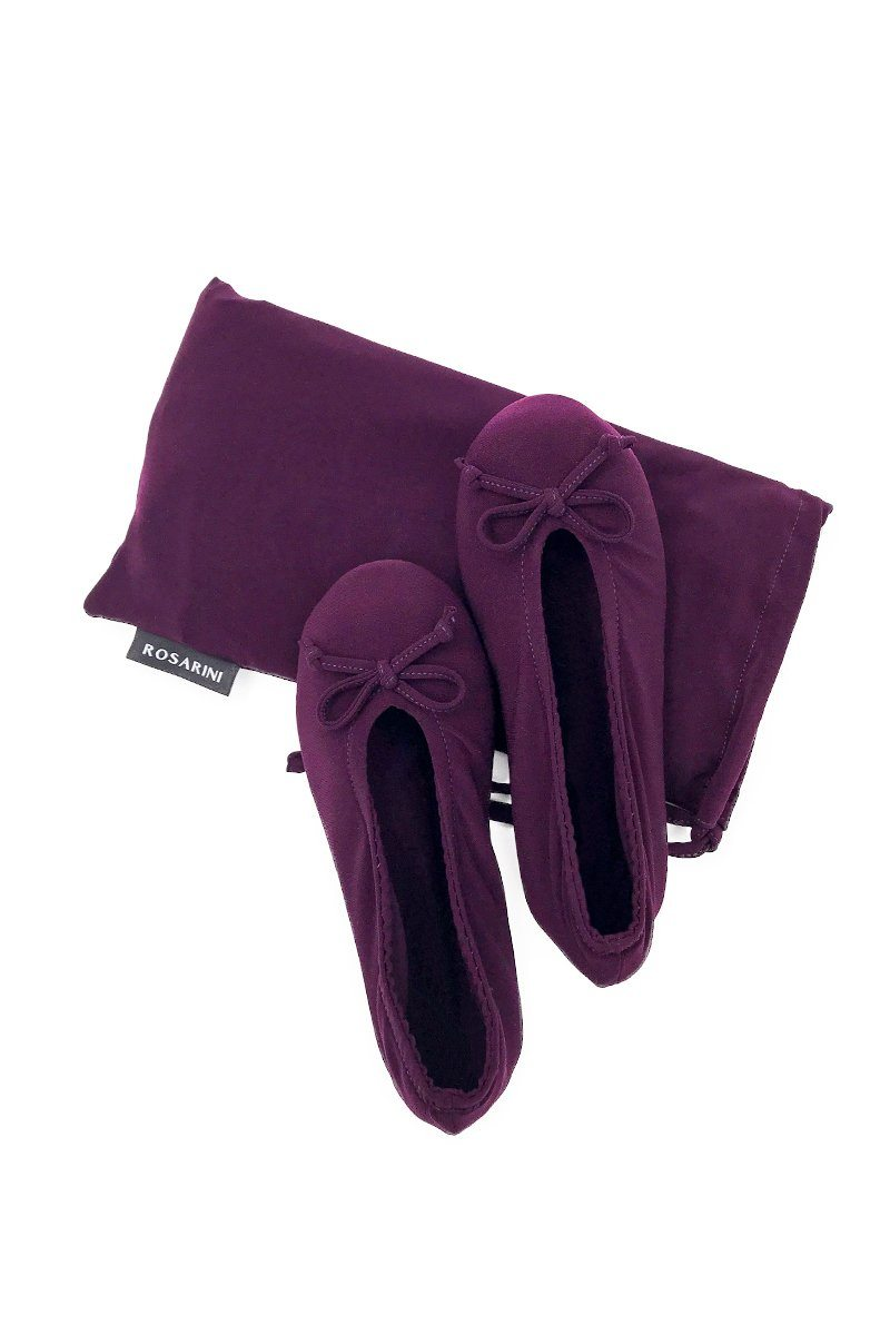 Ballerina Slippers - Wine - Women's Clothing -ROSARINI