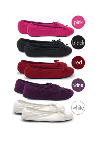 Ballerina Slippers - Wine