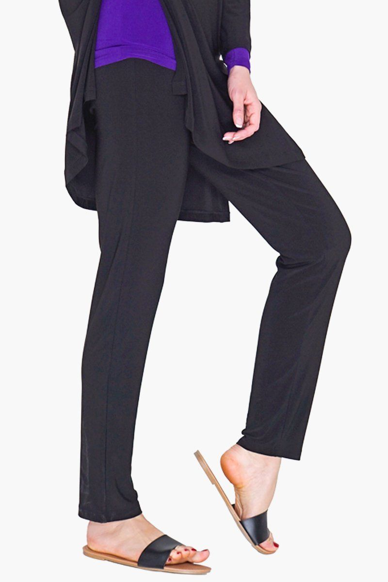 Slim Pants - Black - Women's Clothing -ROSARINI