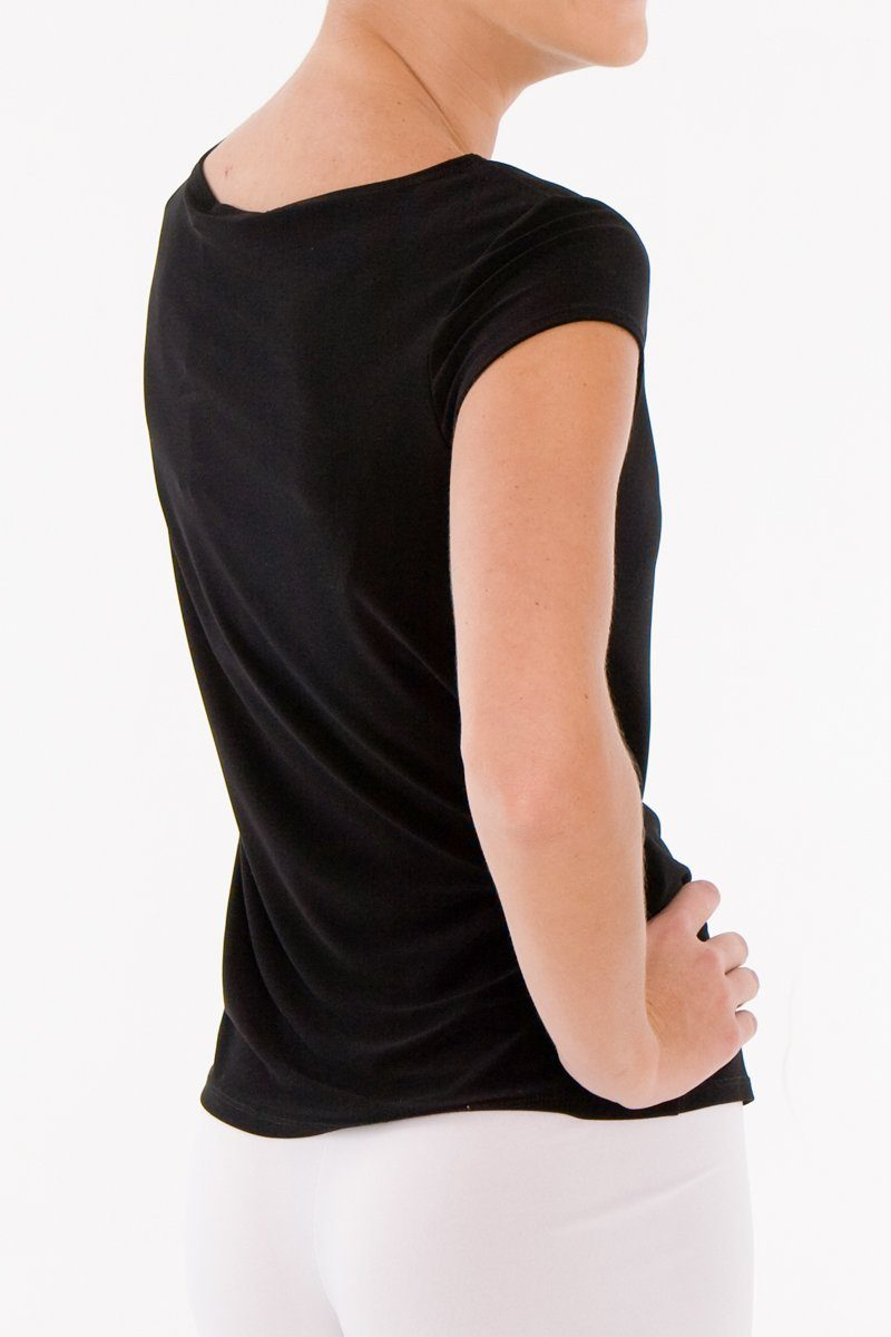 Women's Black Basic T-Shirt Rosarini