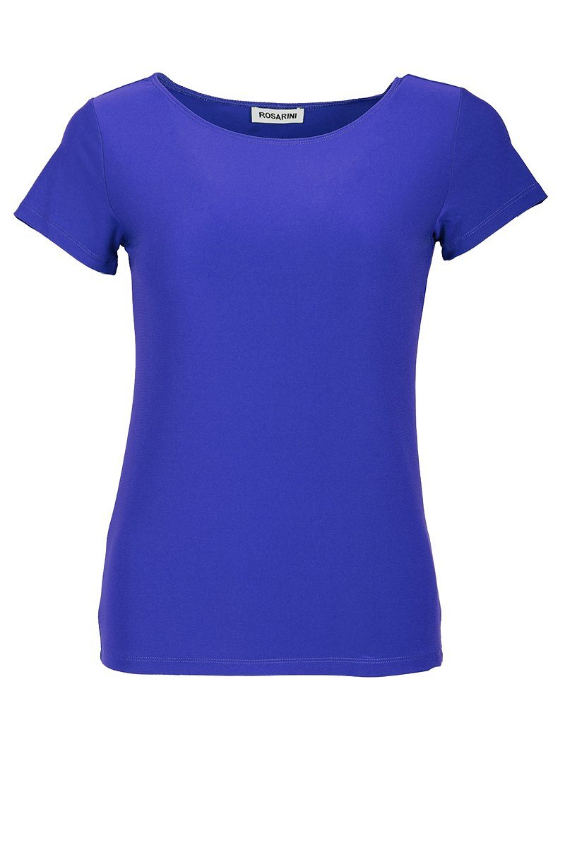 Women's Blue Basic T-Shirt Short Sleeve Rosarini