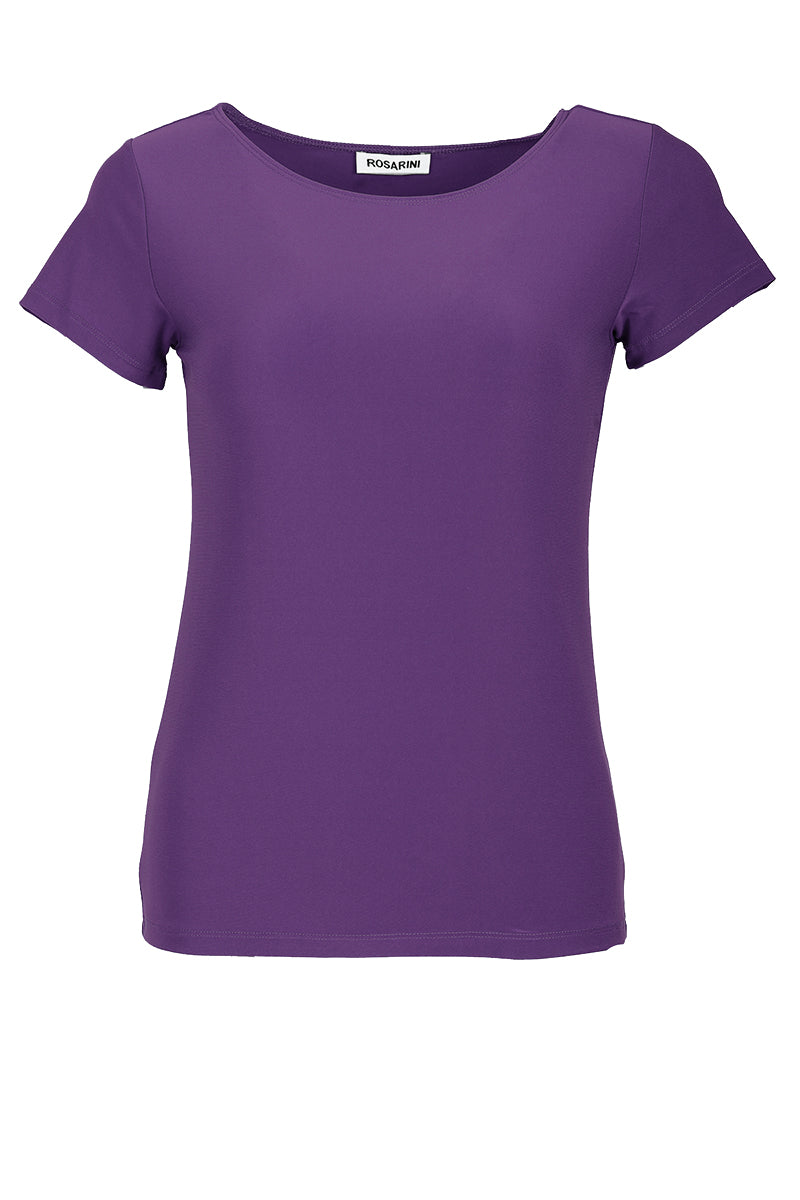 Women's Light Purple Basic T-Shirt Short Sleeve Rosarini