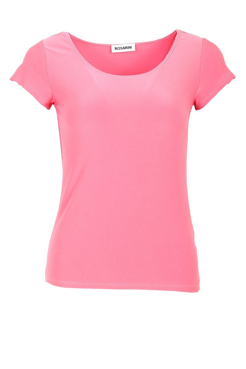 Women's Peach Basic T-Shirt Short Sleeve Rosarini