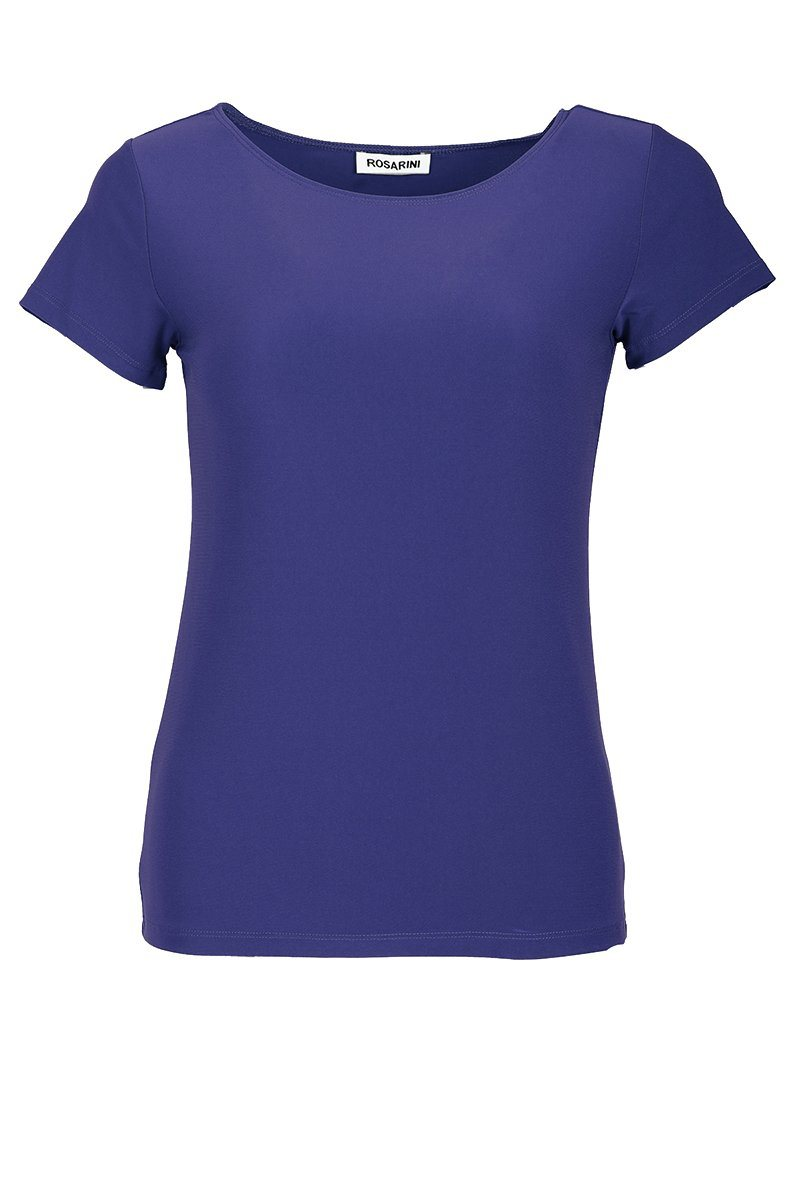 Women's Navy Basic T-Shirt Short Sleeve Rosarini