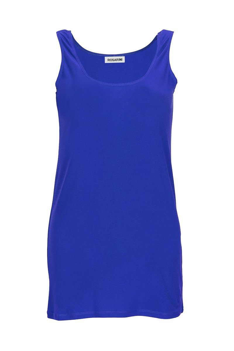 Women's Blue Long Line Singlet Rosarini