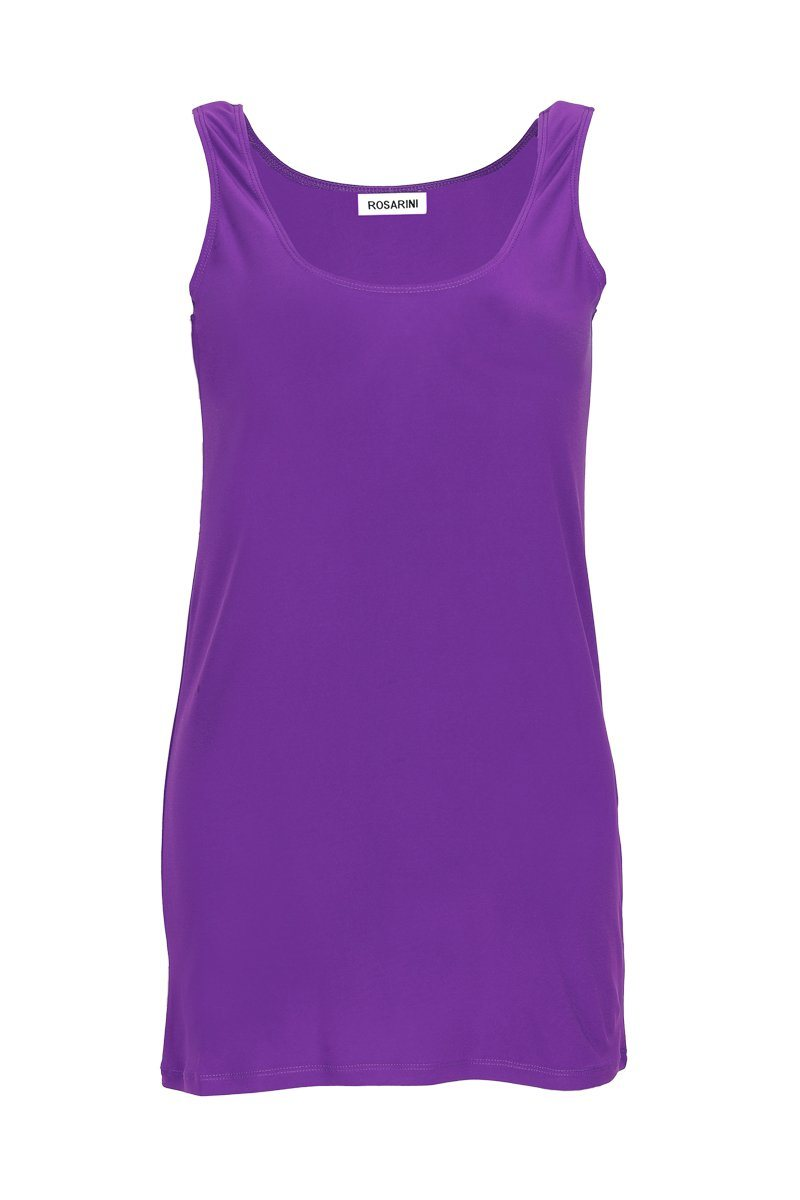 Women's Bright Purple Long Line Singlet Rosarini