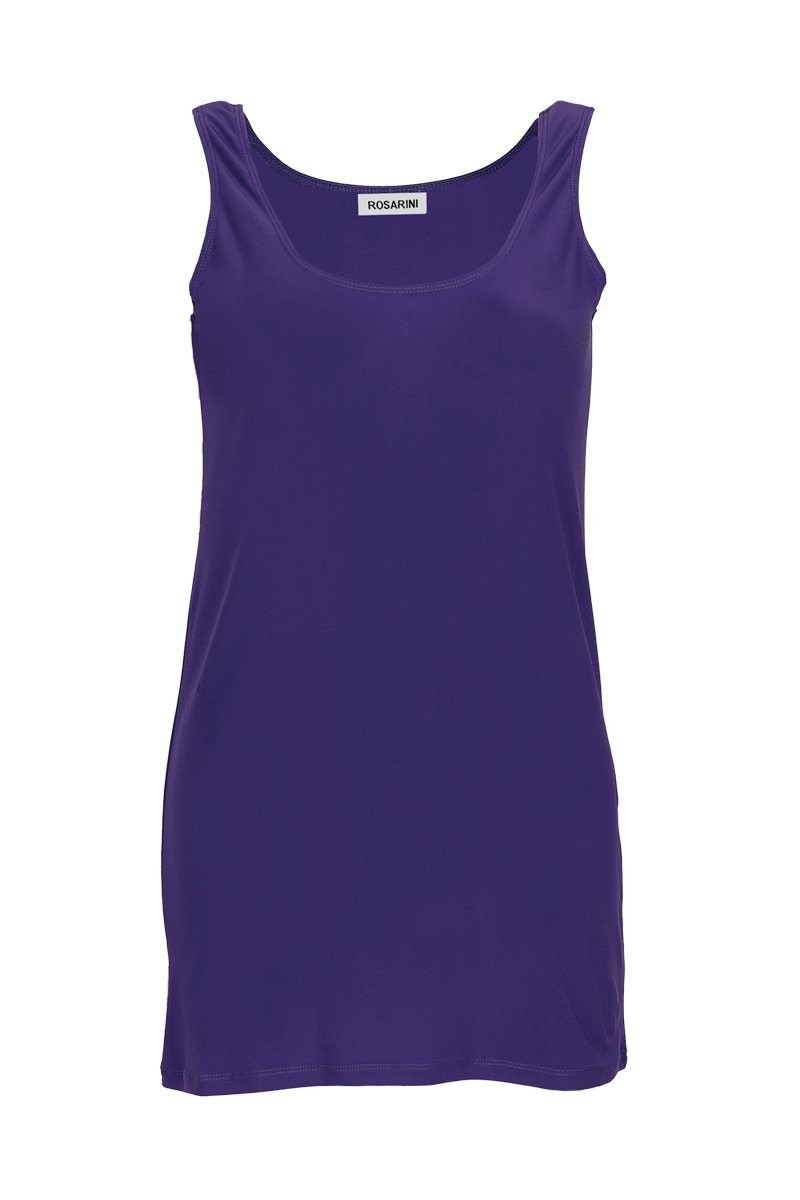 Women's Navy Long Line Singlet Rosarini