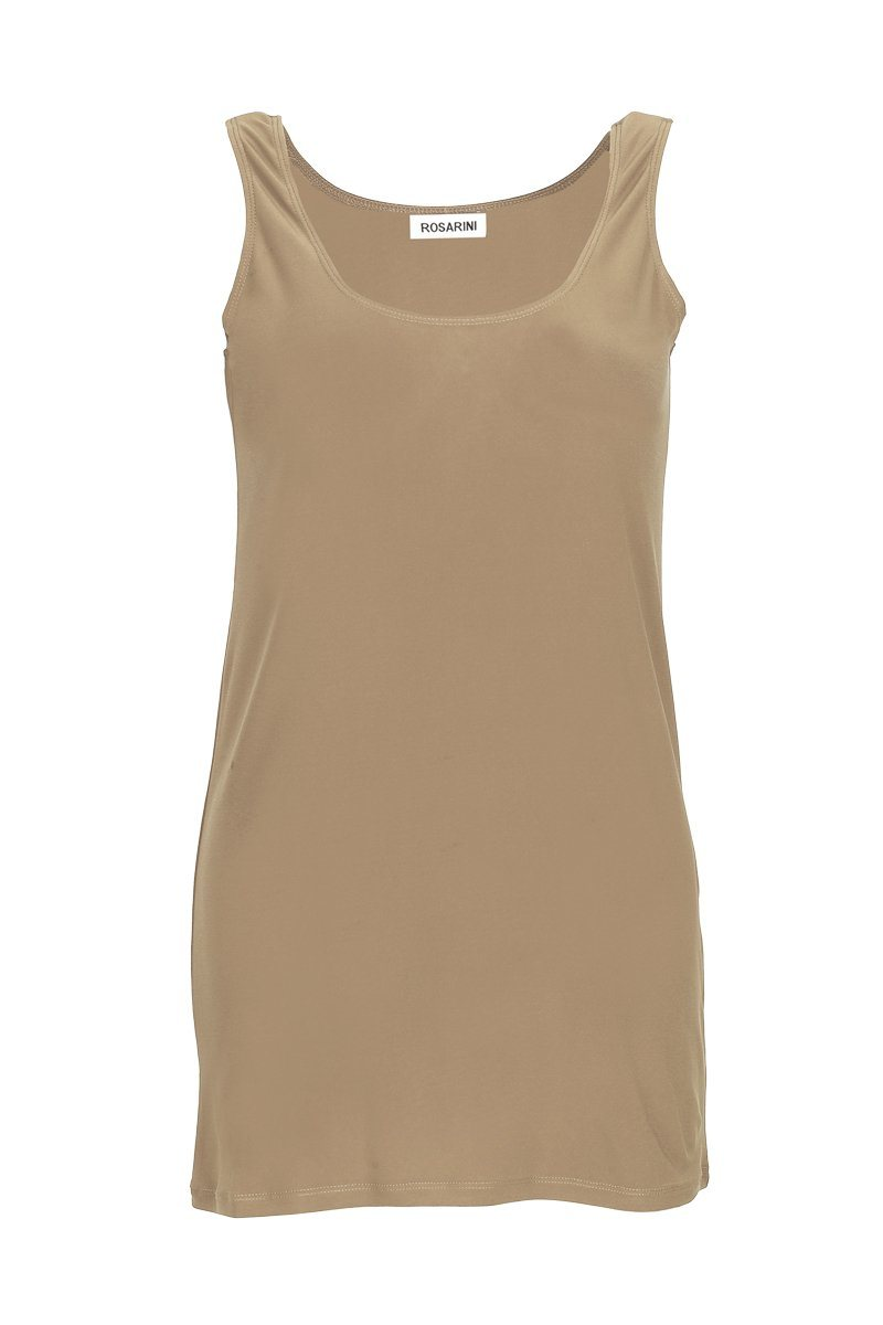 Women's Latte Long Line Singlet Rosarini