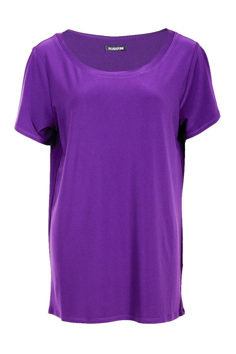 Scoop Neck T-Shirt - Women's Clothing -ROSARINI