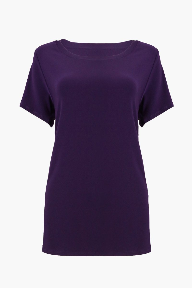 Women's Purple Scoop Neck T-Shirt