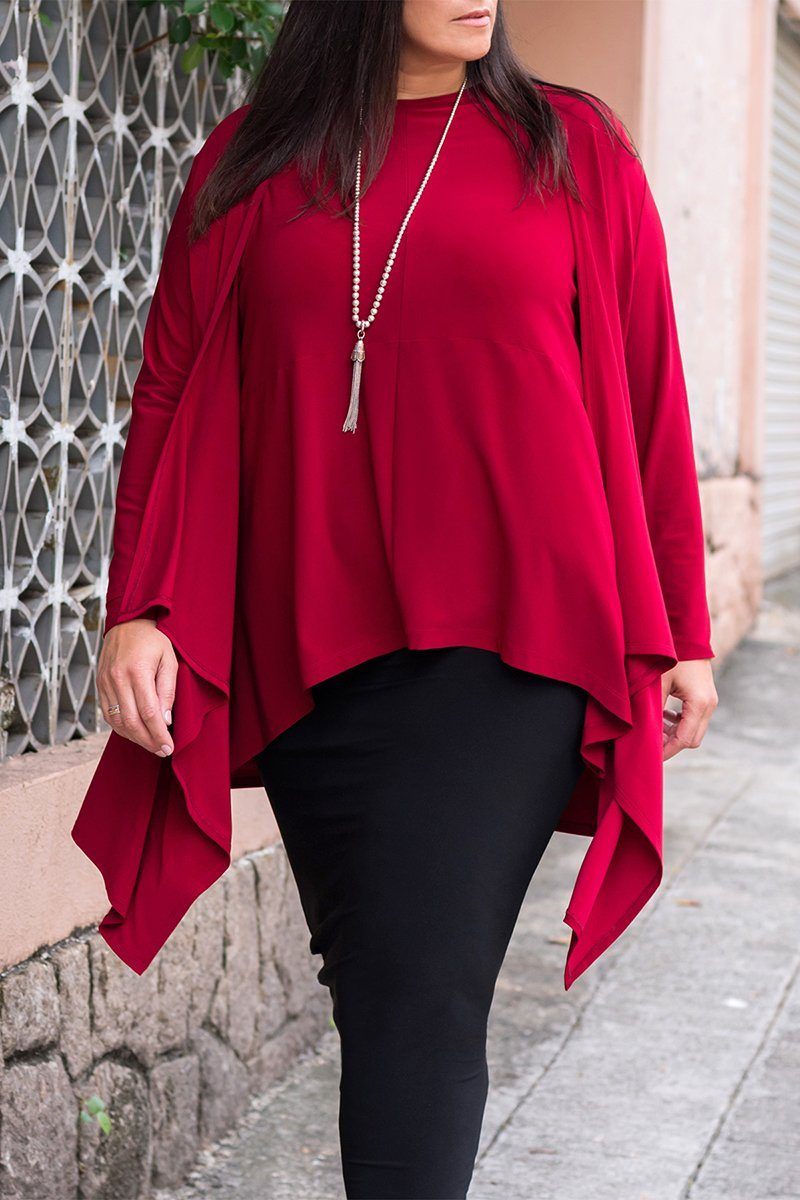 Curved Hem Top Plus Size