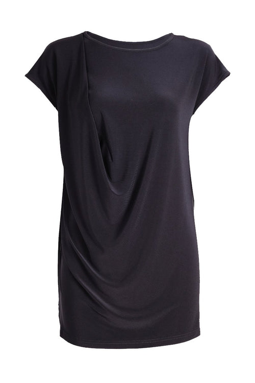 Women's Black Drape Top Rosarini