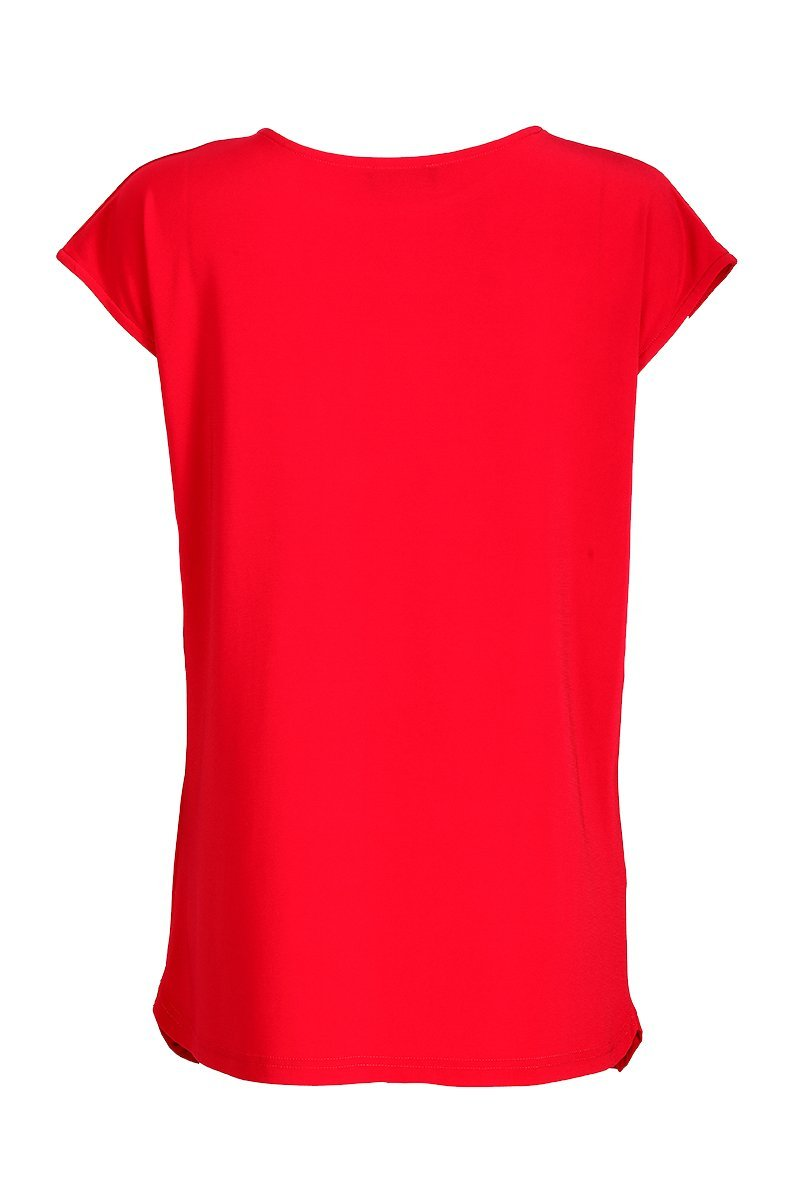Women's Red Drape Top Rosarini