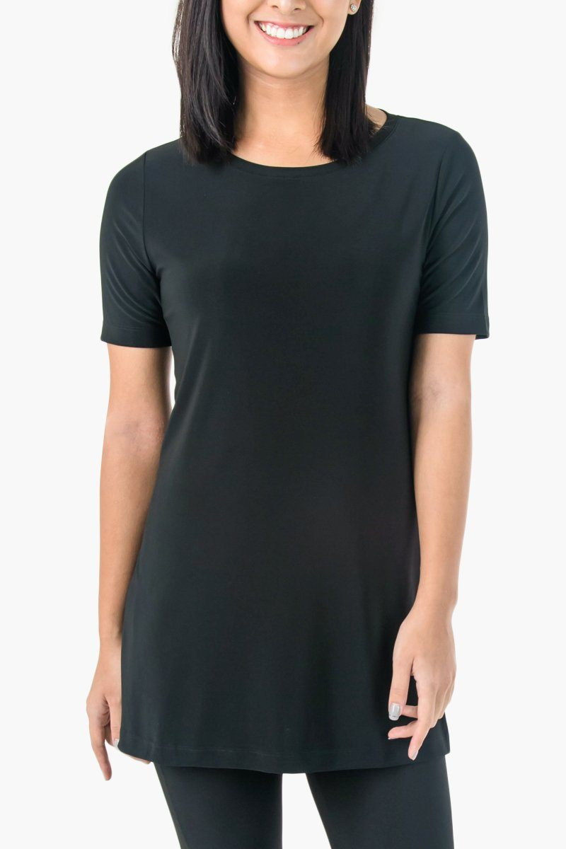 Women's Black Short Sleeve Travel T-Shirt