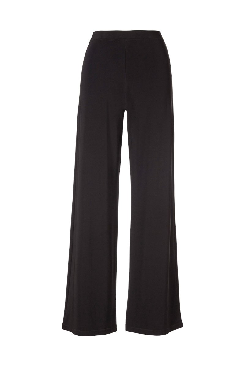 Black Wide Leg Pants - Women's Clothing -ROSARINI