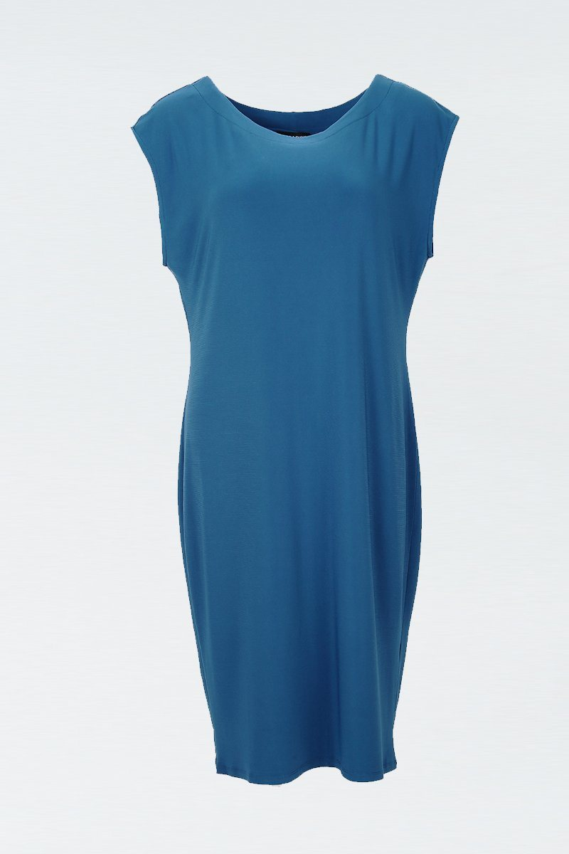 Cap Sleeve Sheath Dress teal