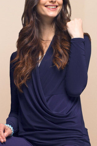 Side Split V-Neck Top