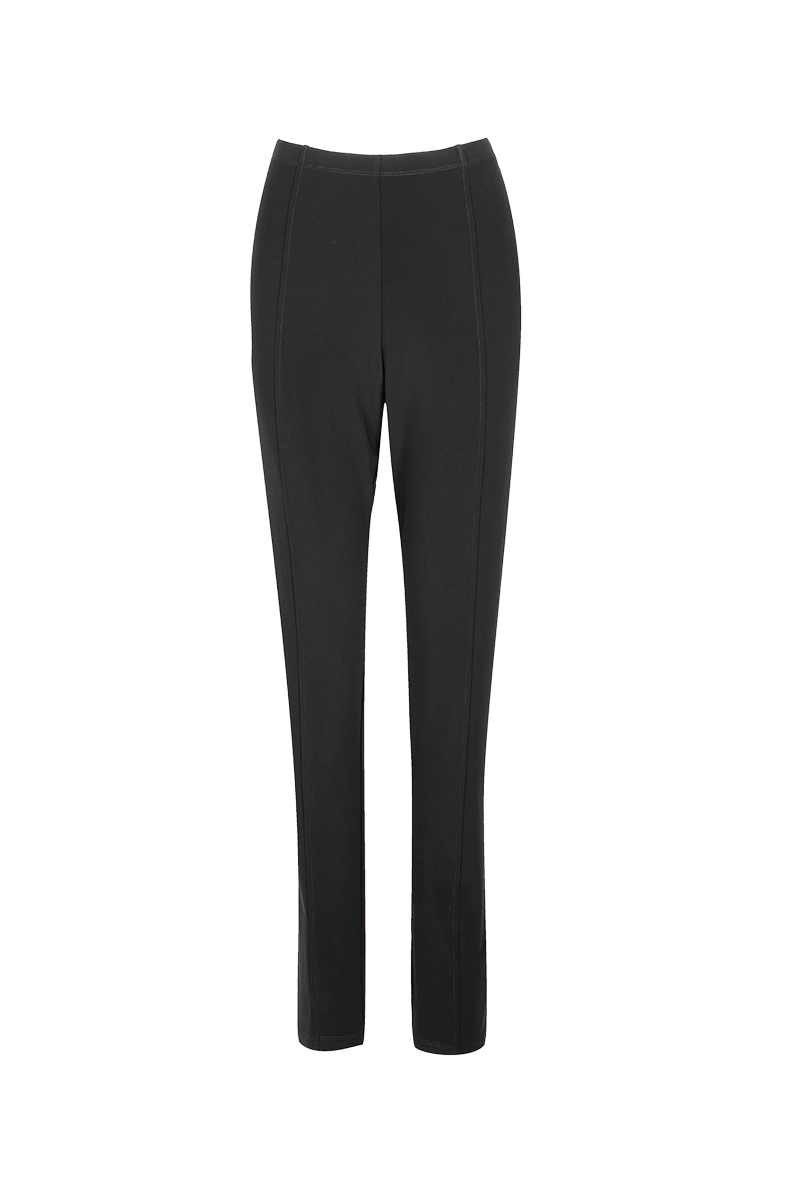 HIGH WAISTED TRAVEL PANTS WITH FRONT SEAM wine
