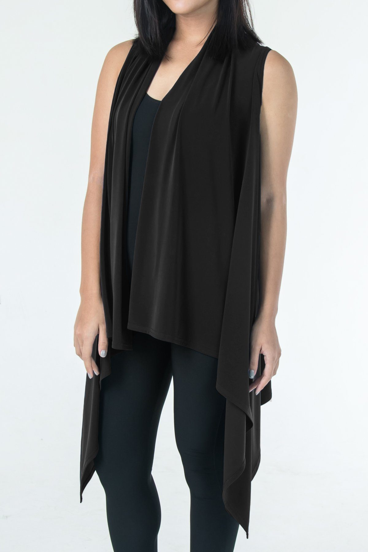 Women's Black Two Way Layering Vest Rosarini