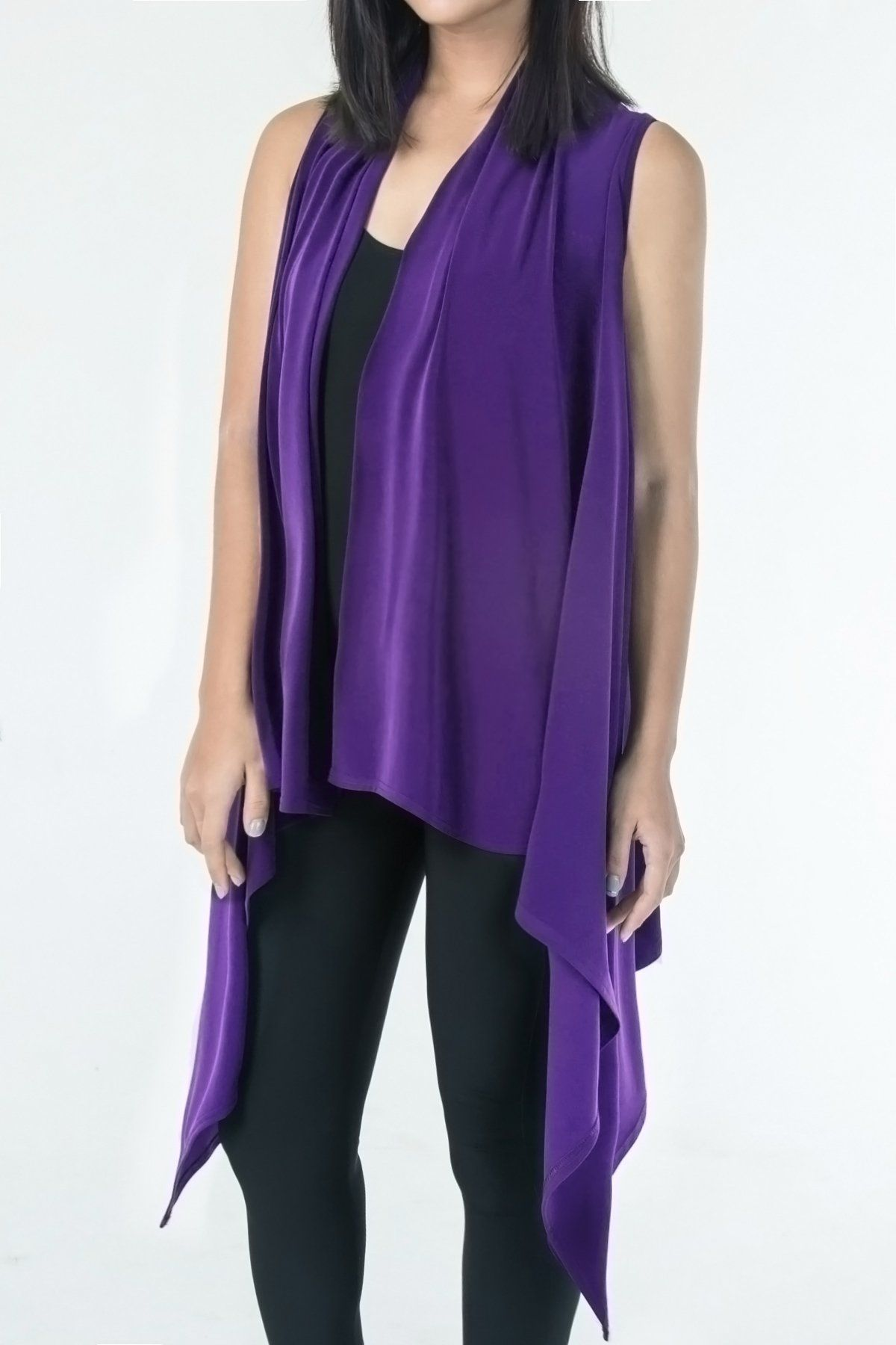 Women's Bright Purple Two Way Layering Vest Rosarini