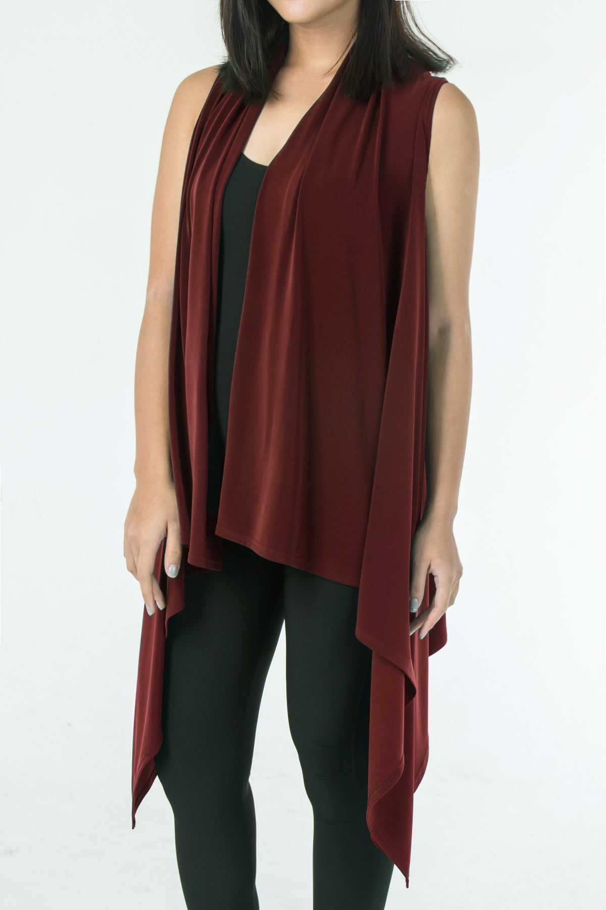 Women's Chestnut Two Way Layering Vest Rosarini