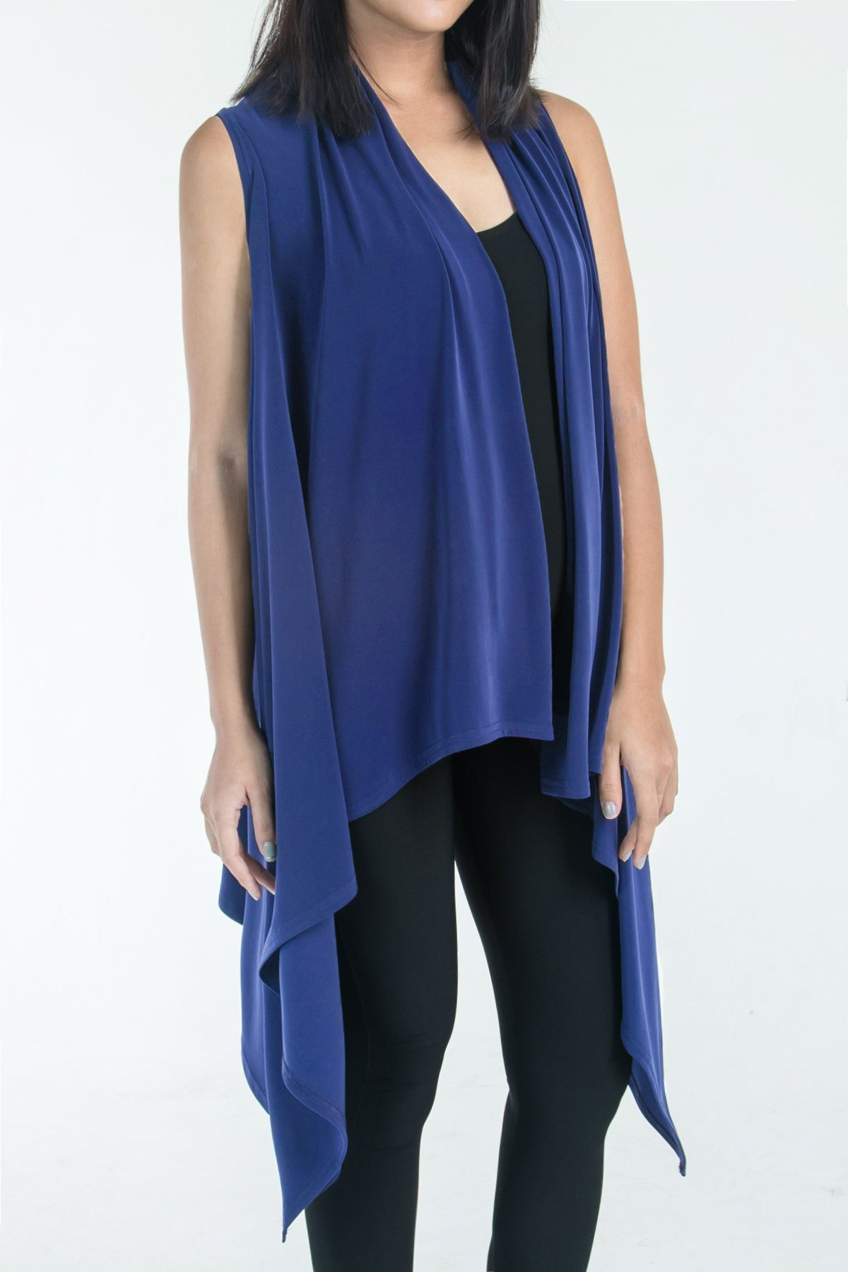 TWO WAY LAYERING VEST COBALT BLUE