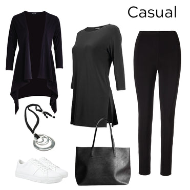 Women's casual day black style outfit