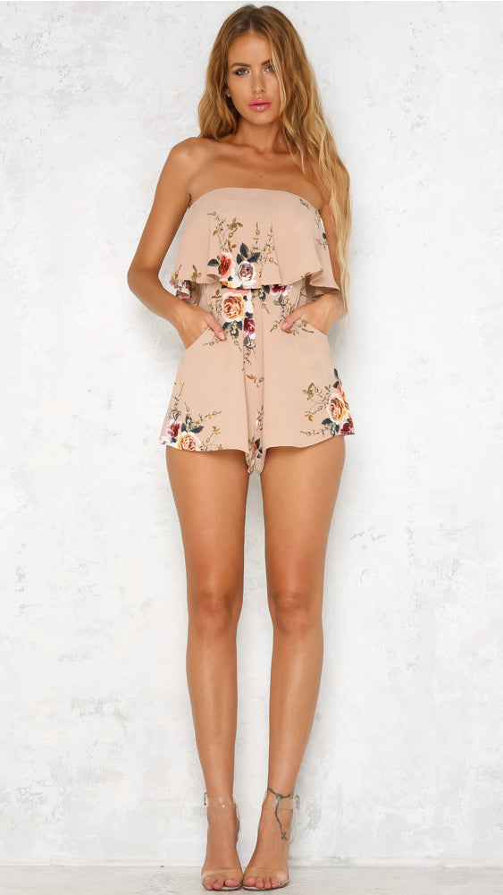 Casey Playsuit in Beige