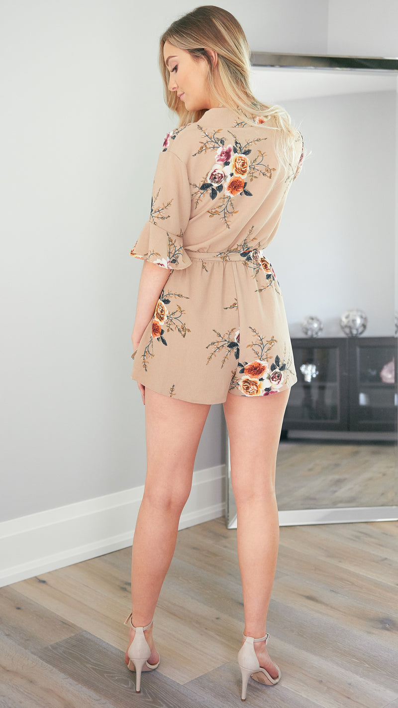 Where are you Now Playsuit in Beige