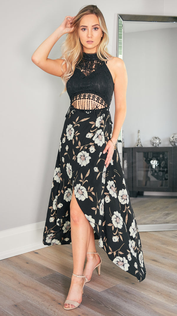 Megan Maxi Dress in Black