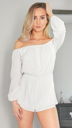 Calli Playsuit in White