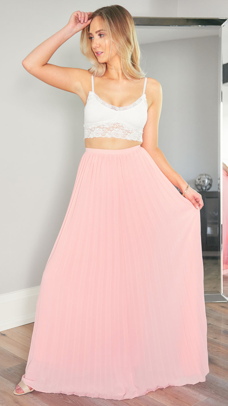 In your Dreams Maxi Skirt in Blush