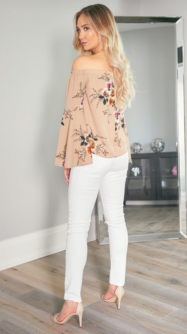 In a Heartbeat Top in Beige