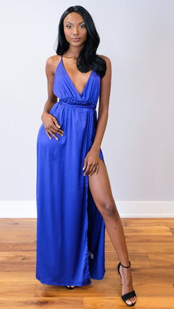 Glam Maxi Dress in Royal Blue