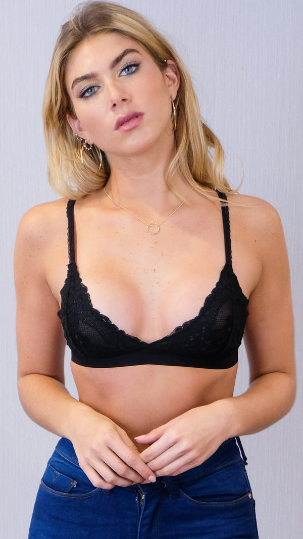 Kenzie Bralette in Black